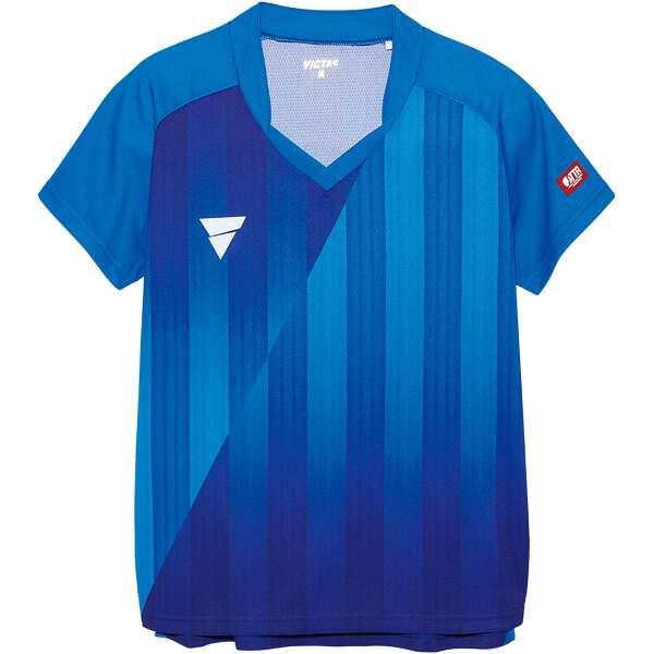 【ビクタス】 V‐LS054 レディース ゲームシャツ [サイズ:2XL] [カラー:ブルー] #031468-0120 【スポーツ・アウトドア:卓球:ウェア:レディースウェア:シャツ】