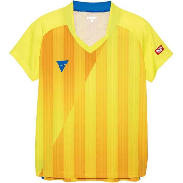 【ビクタス】 V‐LS054 レディース ゲームシャツ [サイズ:2XS] [カラー:イエロー] #031468-0400 【スポーツ・アウトドア:卓球:ウェア:レディースウェア:シャツ】