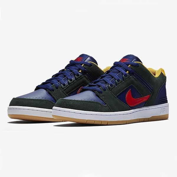 【ナイキ】 ナイキSB エア フォース 2 LOW [サイズ:27.5cm(US9.5)] [カラー:ミッドナイトグリーン×ハバネロレッド] #AO0300-364 【靴:メンズ靴:スニーカー】【AO0300-364】