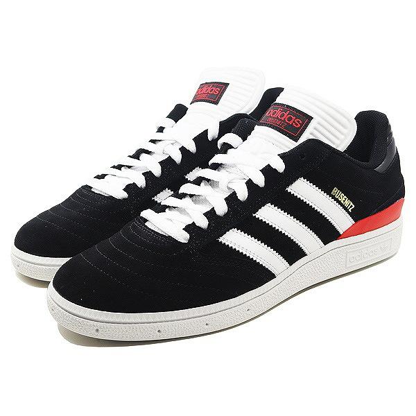 【アディダス】 アディダス スケートボーディング ブセニッツ [サイズ:26cm(US8)] [カラー:ブラック×ホワイト×スカーレット] #B22767 【靴:メンズ靴:スニーカー】【B22767】