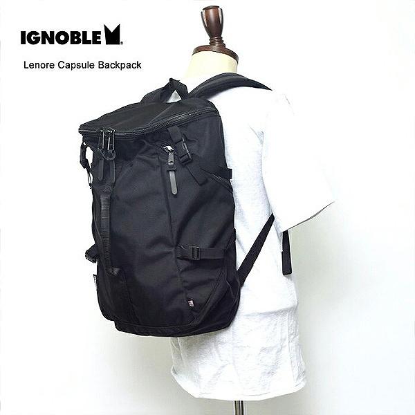 【イグノーブル】 Lenore Capsule Backpack [カラー:Black] [容量27L] #11003 【スポーツ・アウトドア:その他雑貨】