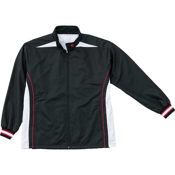【コンバース】 ウォームアップジャケット(裾ボックスタイプ) [サイズ:O] [カラー:ブラック×ホワイト] #CB182500S-1911 【スポーツ・アウトドア:スポーツウェア・アクセサリー:ウインドブレーカー:メンズウインドブレーカー:アウター】