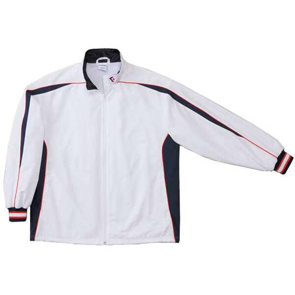 【コンバース】 ウォームアップジャケット(裾ボックスタイプ) [サイズ:XO] [カラー:ホワイト×ネイビー] #CB182501S-1129 【スポーツ・アウトドア:スポーツウェア・アクセサリー:ウインドブレーカー:メンズウインドブレーカー:アウター】