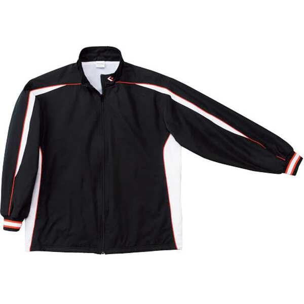 【コンバース】 ウォームアップジャケット(裾ボックスタイプ) [サイズ:XO] [カラー:ブラック×ホワイト] #CB182501S-1911 【スポーツ・アウトドア:スポーツウェア・アクセサリー:ウインドブレーカー:メンズウインドブレーカー:アウター】
