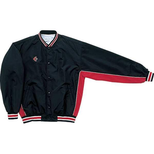 【コンバース】 ウォームアップジャケット(前ボタン・裾フライスタイプ) [サイズ:S] [カラー:ブラック×レッド] #CB182112S-1964 【スポーツ・アウトドア:スポーツウェア・アクセサリー:ウインドブレーカー:メンズウインドブレーカー:アウター】