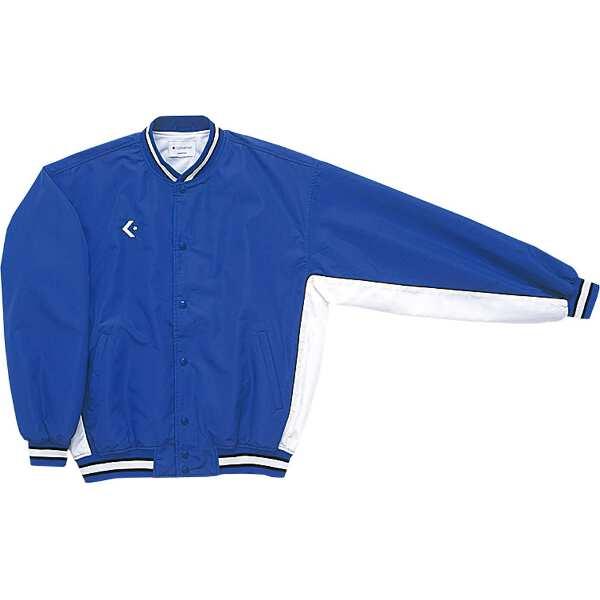 【コンバース】 ウォームアップジャケット(前ボタン・裾フライスタイプ) [サイズ:M] [カラー:ロイヤルブルー×ホワイト] #CB182112S-2511 【スポーツ・アウトドア:スポーツウェア・アクセサリー:ウインドブレーカー:メンズウインドブレーカー:アウター】