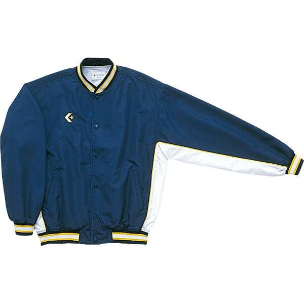 【コンバース】 ウォームアップジャケット(前ボタン・裾フライスタイプ) [サイズ:S] [カラー:ネイビー×ホワイト] #CB182112S-2911 【スポーツ・アウトドア:スポーツウェア・アクセサリー:ウインドブレーカー:メンズウインドブレーカー:アウター】