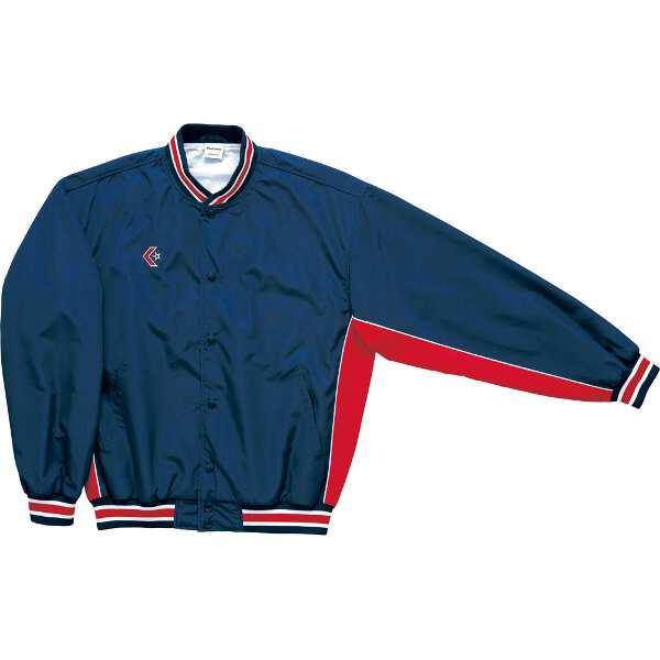 【コンバース】 ウォームアップジャケット(前ボタン・裾フライスタイプ) [サイズ:L] [カラー:ネイビー×レッド] #CB182112S-2964 【スポーツ・アウトドア:スポーツウェア・アクセサリー:ウインドブレーカー:メンズウインドブレーカー:アウター】