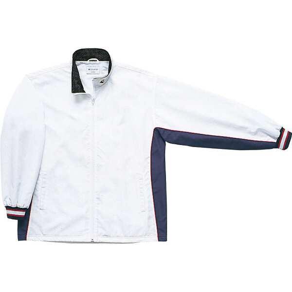 【コンバース】 ウォームアップジャケット(前ファスナー・裾ボックスタイプ) [サイズ:S] [カラー:ホワイト×ネイビー] #CB182102S-1129 【スポーツ・アウトドア:スポーツウェア・アクセサリー:ウインドブレーカー:メンズウインドブレーカー:アウター】