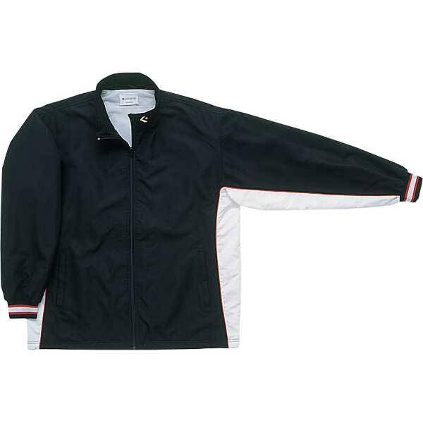 【コンバース】 ウォームアップジャケット(前ファスナー・裾ボックスタイプ) [サイズ:L] [カラー:ブラック×ホワイト] #CB182102S-1911 【スポーツ・アウトドア:スポーツウェア・アクセサリー:ウインドブレーカー:メンズウインドブレーカー:アウター】