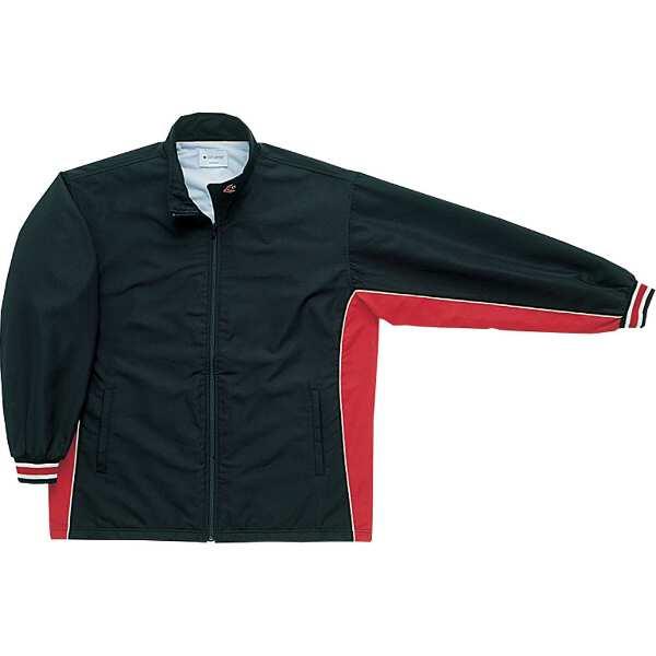 【コンバース】 ウォームアップジャケット(前ファスナー・裾ボックスタイプ) [サイズ:O] [カラー:ブラック×レッド] #CB182102S-1964 【スポーツ・アウトドア:スポーツウェア・アクセサリー:ウインドブレーカー:メンズウインドブレーカー:アウター】