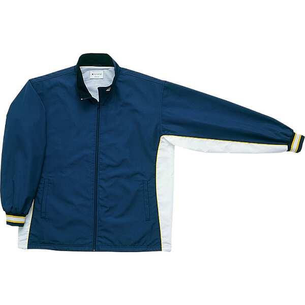 【コンバース】 ウォームアップジャケット(前ファスナー・裾ボックスタイプ) [サイズ:XO] [カラー:ネイビー×ホワイト] #CB182102S-2911 【スポーツ・アウトドア:スポーツウェア・アクセサリー:ウインドブレーカー:メンズウインドブレーカー:アウター】