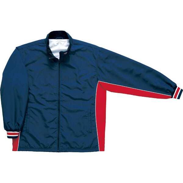 【コンバース】 ウォームアップジャケット(前ファスナー・裾ボックスタイプ) [サイズ:O] [カラー:ネイビー×レッド] #CB182102S-2964 【スポーツ・アウトドア:スポーツウェア・アクセサリー:ウインドブレーカー:メンズウインドブレーカー:アウター】