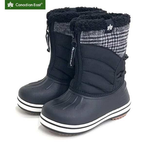【カナディアンイースト】 グリーンレーベル ジュニアウィンターブーツ(ワンタッチスパイク付) [サイズ:16~17cm] [カラー:ブラック] #CEWP700S-BLK 【靴:メンズ靴:スノーシューズ】