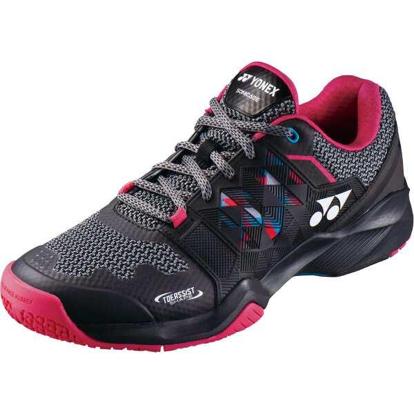 【ヨネックス】 パワークッション ソニケージM GC テニスシューズ [サイズ:26.0cm] [カラー:ブラック×ピンク] #SHTSMGC-181 【スポーツ・アウトドア:テニス:競技用シューズ:メンズ競技用シューズ】