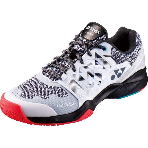 【ヨネックス】 パワークッション ソニケージM GC テニスシューズ [サイズ:22.5cm] [カラー:ホワイト×ブラック] #SHTSMGC-141 【スポーツ・アウトドア:テニス:競技用シューズ:メンズ競技用シューズ】