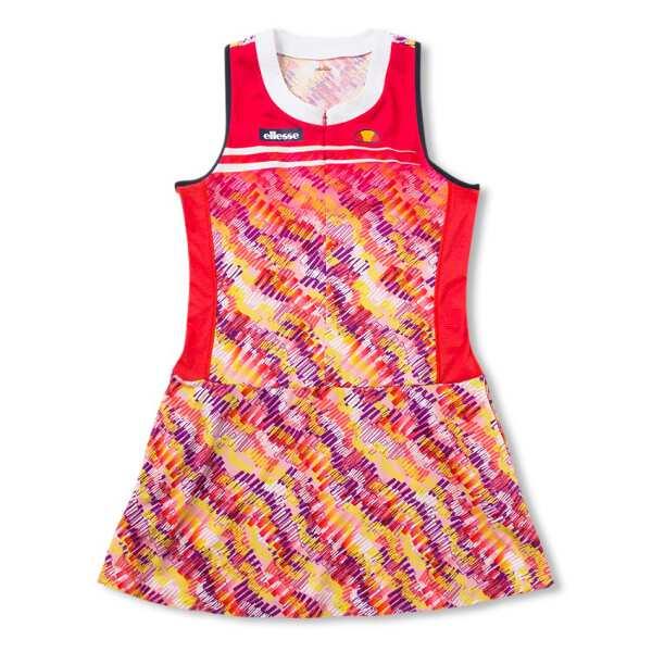 【エレッセ】 ツアードレス(レディーステニスウェア) [サイズ:M] [カラー:パッションレッド] #EW09100-PR 【スポーツ・アウトドア:テニス:レディースウェア】