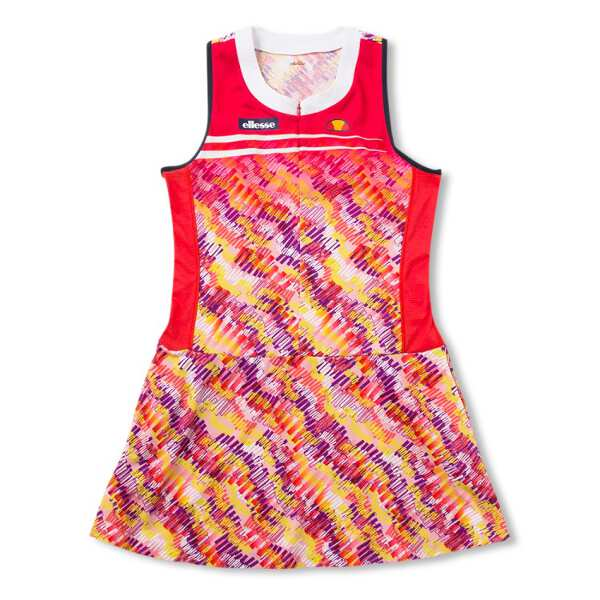 【エレッセ】 ツアードレス(レディーステニスウェア) [サイズ:L] [カラー:パッションレッド] #EW09100-PR 【スポーツ・アウトドア:テニス:レディースウェア】