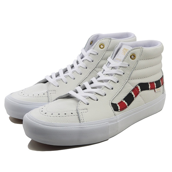 【バンズ】 バンズ スケート ハイ プロ (Coral Snake) [サイズ:28cm(US10)] [カラー:トゥルーホワイト] #VN0A45JDVG9 【靴:メンズ靴:スニーカー】【VN0A45JDVG9】