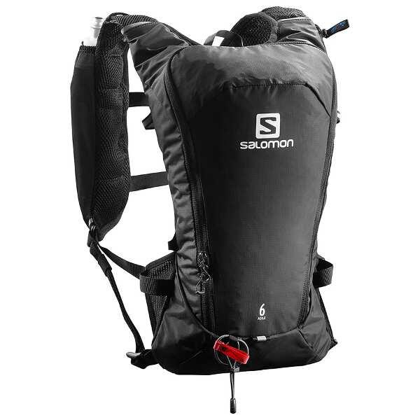 【サロモン】 AGILE 6 SET ランニングバックパック [サイズ:42×18×12cm(7L)] [カラー:ブラック] #L40164500 【スポーツ・アウトドア:アウトドア:バッグ:バックパック・リュック】