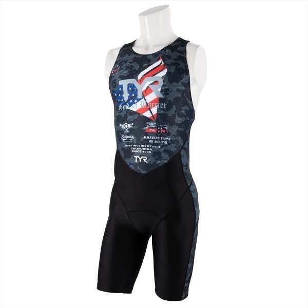 【ティア】 メンズ トライアスロンスーツ バックジッパ― [サイズ:M] [カラー:ブラック] #SMST1-19S 【スポーツ・アウトドア:トライアスロン】