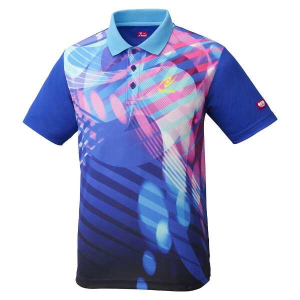 【ニッタク】 トロピックシャツ(ユニセックス) [サイズ:L] [カラー:ブルー] #NW-2190-09 【スポーツ・アウトドア:卓球:ウェア:メンズウェア:シャツ】