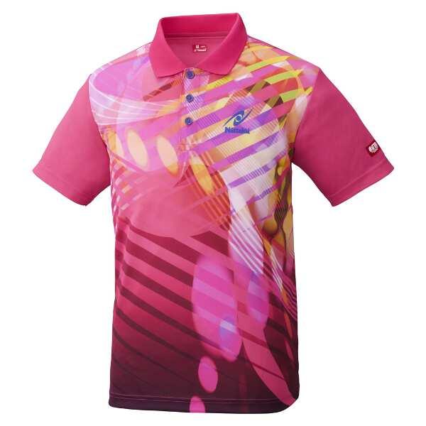 【ニッタク】 トロピックシャツ(ユニセックス) [サイズ:XO] [カラー:ピンク] #NW-2190-21 【スポーツ・アウトドア:卓球:ウェア:メンズウェア:シャツ】