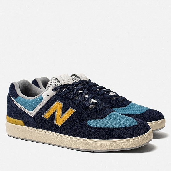 【ニューバランス】 ニューバランス ヌメリック AM574MGN [サイズ:29cm (US11) Dワイズ] [カラー:ネイビー×ゴールデン] 【靴:メンズ靴:スニーカー】