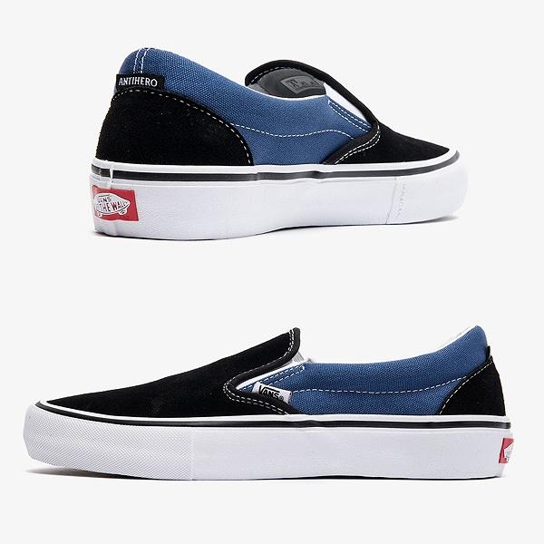 【バンズ】 バンズ スリッポン プロ (アンタイヒーロー) [サイズ:26cm(US8)] [カラー:ファンナー×ブラック] #VN0A347VVGI 【靴:メンズ靴:スニーカー】【VN0A347VVGI】