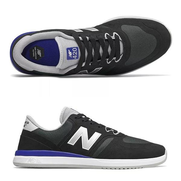 【5%off+最大3000円offクーポン(要獲得) 5/19 9:59まで】 【送料無料】 ニューバランス ヌメリック NM420BLR [サイズ:27.5cm (US9.5) Dワイズ] [カラー:ブラック×ロイヤル] 【ニューバランス: 靴 メンズ靴 スニーカー】【NEW BALANCE】
