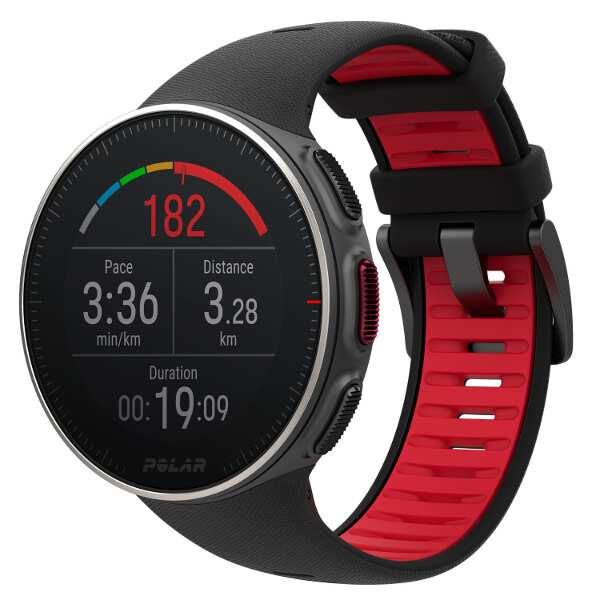 【ポラール】 バンテージ V チタン HR 国内正規品(H10心拍センサー付) [カラー:ブラック×レッド] #90075338 【スポーツ・アウトドア:ジョギング・マラソン:GPS】