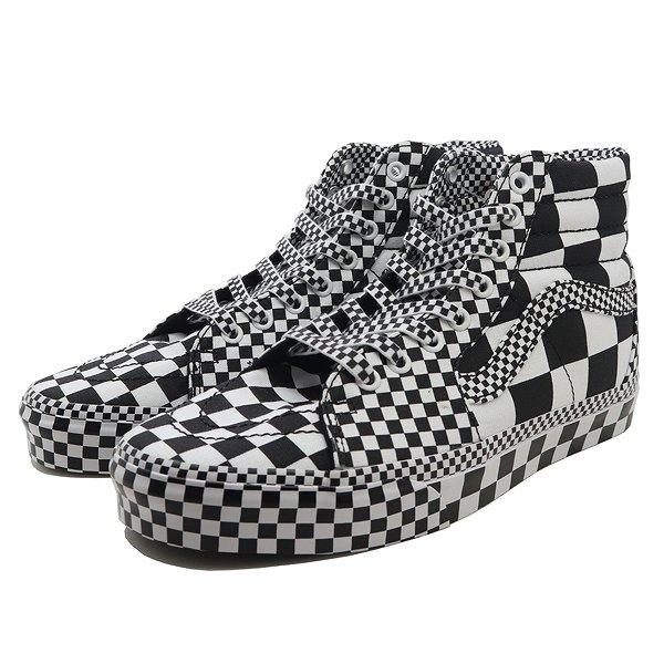 【バンズ】 バンズ スケートハイ (All Over Ckrbrd) [サイズ:26cm(US8)] [カラー:ブラック×ホワイト] #VN0A4BV6V8U 【靴:メンズ靴:スニーカー】【VN0A4BV6V8U】