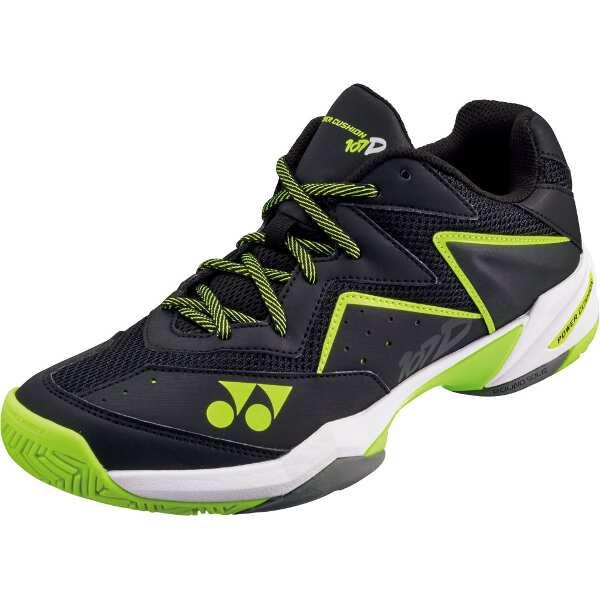 【ヨネックス】 パワークッション107D テニスシューズ [サイズ:27.0cm] [カラー:ブラック×イエロー] #SHT107D-400 【スポーツ・アウトドア:テニス:競技用シューズ:メンズ競技用シューズ】