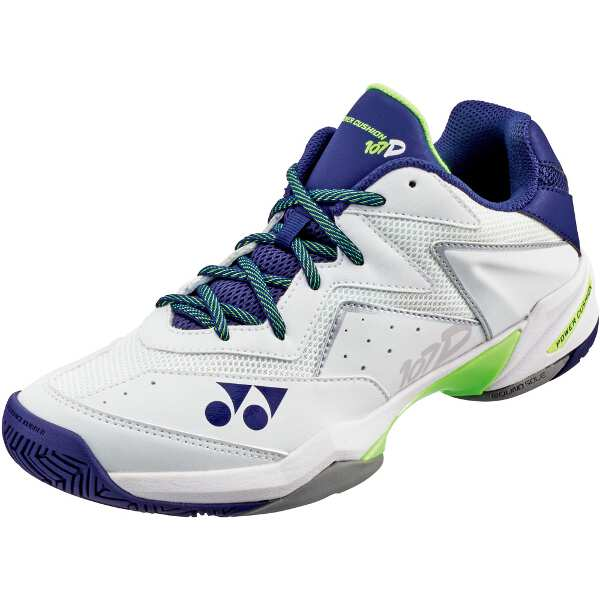 【ヨネックス】 パワークッション107D テニスシューズ [サイズ:24.5cm] [カラー:ホワイト×ネイビー] #SHT107D-100 【スポーツ・アウトドア:テニス:競技用シューズ:メンズ競技用シューズ】
