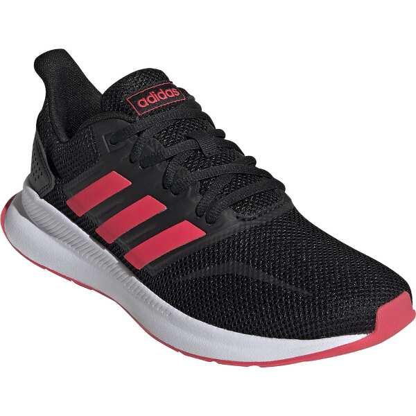 【アディダス】 FALCONRUN W [サイズ:22.0cm] [カラー:コアブラック×レッド×ホワイト] #F36270 【靴:レディース靴:スニーカー】