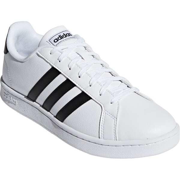 【アディダス】 GRANDCOURT LEA U [サイズ:24.0cm] [カラー:ランニングホワイト×コアブラック] #F36392 【靴:メンズ靴:スニーカー】