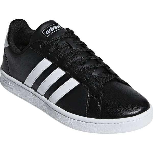 【アディダス】 GRANDCOURT LEA U [サイズ:22.5cm] [カラー:コアブラック×ランニングホワイト] #F36393 【靴:メンズ靴:スニーカー】