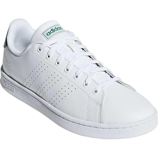 【アディダス】 ADVANCOURT LEA M [サイズ:25.0cm] [カラー:ランニングホワイト×グリーン] #F36424 【靴:メンズ靴:スニーカー】