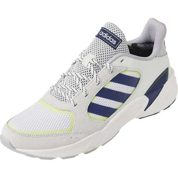 【アディダス】 90S VALASION [サイズ:26.0cm] [カラー:クラウドホワイト×ダークブルー×イエロー] #EE9895 【靴:メンズ靴:スニーカー】