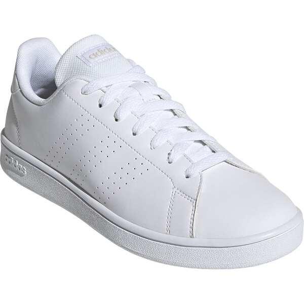【アディダス】 ADVANCOURT BASE [サイズ:24.5cm] [カラー:ランニングホワイト×ローホワイト] #EE7692 【靴:メンズ靴:スニーカー】