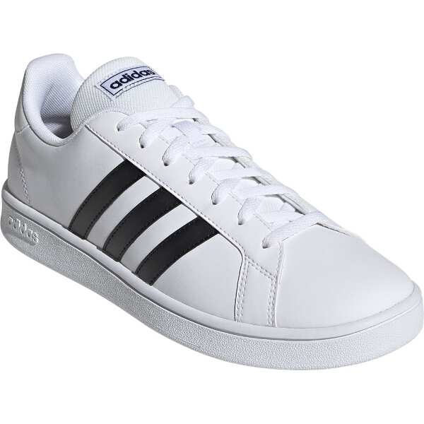 【アディダス】 GRANDCOURT BASE [サイズ:25.0cm] [カラー:ランニングホワイト×ブラック×ブルー] #EE7904 【靴:メンズ靴:スニーカー】