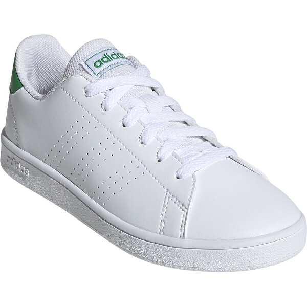 【アディダス】 ADVANCOURT K [サイズ:21.0cm] [カラー:ランニングホワイト×グリーン×グレー] #EF0213 【靴:メンズ靴:スニーカー】