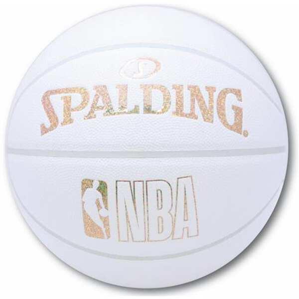 【スポルディング】 ホログラムコンポジット バスケットボール 7号球 [カラー:ホワイト×ゴールド] #76-482J 【スポーツ・アウトドア:バスケットボール:ボール】
