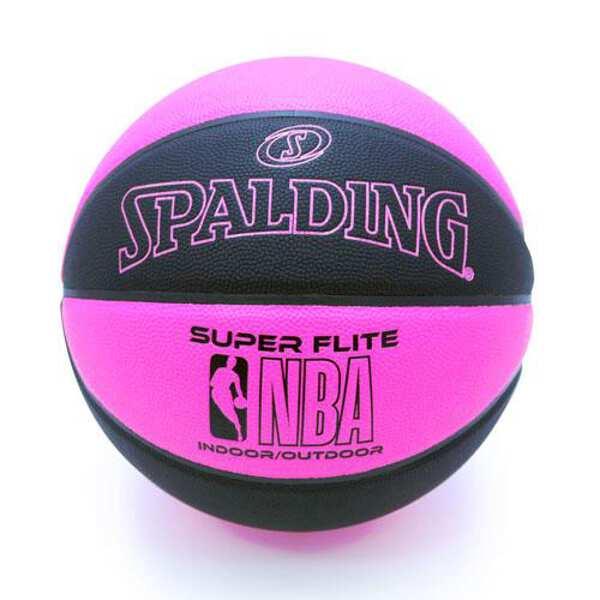 【スポルディング】 スーパーフライト バスケットボール 5号球 [カラー:ブラック×ピンク] #76-515J 【スポーツ・アウトドア:バスケットボール:ボール】