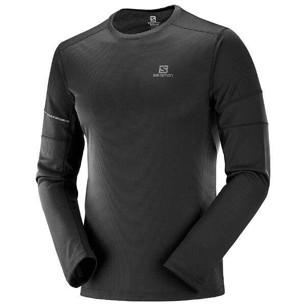 【サロモン】 AGILE LS TEE M(メンズ) Tシャツ [サイズ:M] [カラー:ブラック] #LC1165500 【スポーツ・アウトドア:アウトドア:ウェア:メンズウェア】