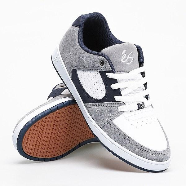 【エス】 アクセル スリム [サイズ:26cm(US8)] [カラー:グレー×ホワイト×ネイビー] #5101000144371 【靴:メンズ靴:スニーカー】【5101000144371】