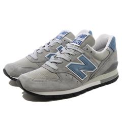 【5%off+最大3000円offクーポン(要獲得) 5/19 9:59まで】 【送料無料】 ニューバランス M996ABC [カラー:グレー×ライトブルー] [サイズ:24cm (US6) Dワイズ] 【ニューバランス: 靴 メンズ靴 スニーカー】【NEW BALANCE New Balance M996】