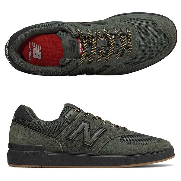 【ニューバランス】 ニューバランス ヌメリック AM574BOV [サイズ:27.5cm (US9.5) Dワイズ] [カラー:グリーン×ブラック] 【靴:メンズ靴:スニーカー】【AM574】