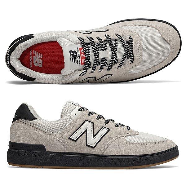 【5%off+最大3000円offクーポン(要獲得) 5/19 9:59まで】 【送料無料】 ニューバランス ヌメリック AM574BTN [サイズ:26.5cm (US8.5) Dワイズ] [カラー:ホワイト×ブラック] 【ニューバランス: 靴 メンズ靴 スニーカー】【NEW BALANCE】