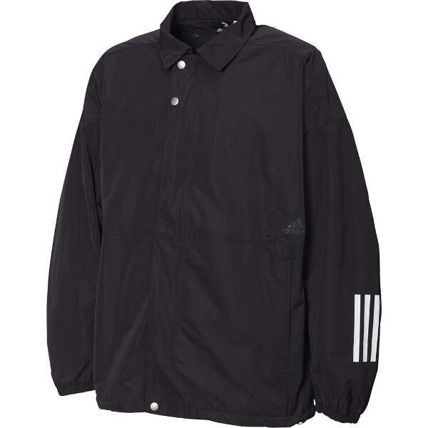 【アディダス】 M S2S コーチジャケット [サイズ:L] [カラー:ブラック] #FYK49-ED1928 【スポーツ・アウトドア:その他雑貨】